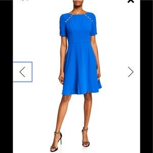 NWT,Shani,Fit-&-Flare dress Pearlescent,Royal blue